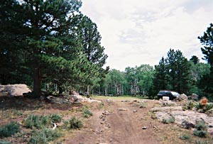 Rocky Mountain National Rendezvous camp site photo